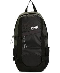 Haus | Logo Print Backpack