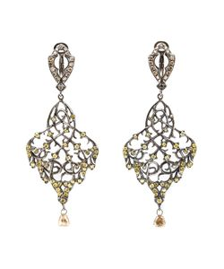 Loree Rodkin | Thorn Leaf Drop Diamond Earrings