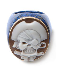 Amedeo | Pirate Skull Cameo Ring