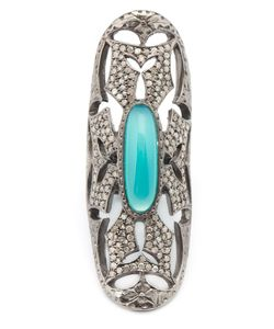 Loree Rodkin | Long Maltese Cross Chrysocolla And Diamond Ring