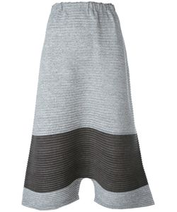 Issey Miyake Cauliflower | Ribbed Drop-Crotch Cropped Trousers