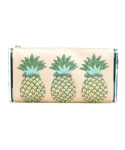 Edie Parker | Pineapples Embroidery Clutch