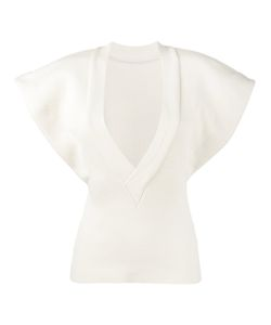 Jacquemus | V-Neck Knitted Top With Flared Sleeves