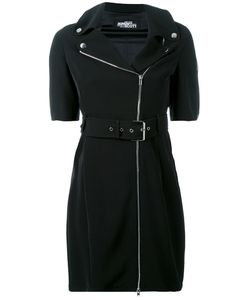 Jeremy Scott | Zipped Shoulders Belted Dress Size 40 Polyester/Other