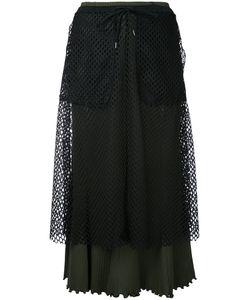G.V.G.V.   G.V.G.V. Mesh Layered Ribbed Jersey Skirt
