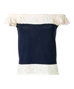 Roberto Collina | Lace Trim Off The Shoulder Top