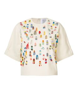 Rosie Assoulin | Beaded Applique T-Shirt Size Small