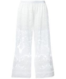 Just Cavalli | Open Embroidery Cropped Trousers Size 40