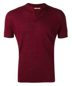 Nuur | Split Neck Short Sleeve Sweater