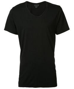 En Noir | Slash Scoop Neck T-Shirt Large Cotton/Modal