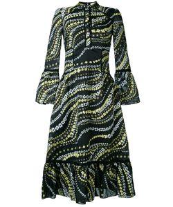 Erdem | Embroidered Ruffled Hem Dress