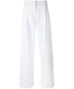 Cédric Charlier | Pleat Detail Straight Trousers Size 42 Rayon/Other