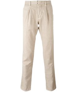 Incotex | Pleat Detail Tape Trousers 36 Cotton/Linen/Flax