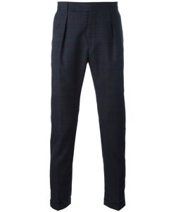 Paul Smith | Woven Check Trousers 28 Silk/Wool