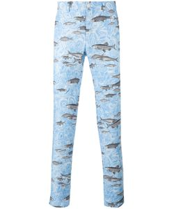 Comme Des Garçons Homme Plus | Fish Print Tapered Trousers
