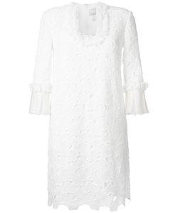 Huishan Zhang   Scalloped Macrame Lace Dress