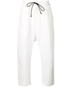 Isabel Benenato | Drawstring Cropped Tapered Trousers 50