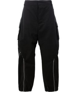 Moohong   Zip Detail Wide Leg Trousers Size 50