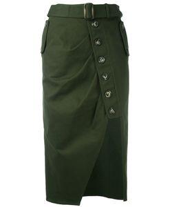 Self-Portrait | Asymmetric Buttoned Skirt Women 8