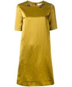 'S Max Mara | S Max Mara Embellished Neck Dress 48