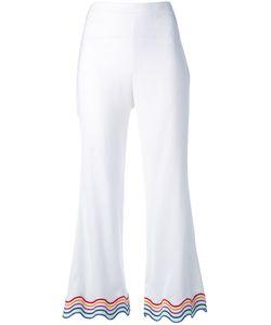 Sara Battaglia | Rainbow Trim Cropped Trousers Size 46