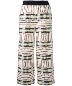 I'M Isola Marras | Printed Cropped Trousers Size 38