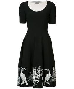 Alexander McQueen | Embroidered Flared Dress