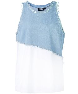 Andrea Crews | Frayed Denim Tank Small