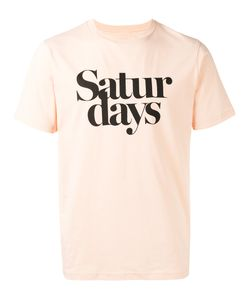 Saturdays Surf Nyc | Logo Print T-Shirt Large Cotton