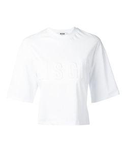 MSGM | Embossed Logo T-Shirt Size Medium