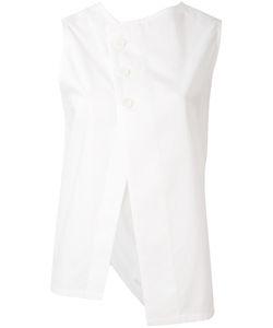 Y's   Asymmetric Buttoned Blouse