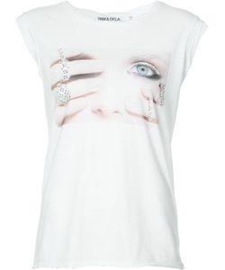 Pam & Gela   Printed Face T-Shirt