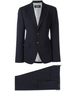 DSquared² | London Two-Piece Suit 42 Polyester/Viscose/Wool/Spandex/Elastane