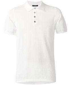 Roberto Collina | Textured Polo Shirt Size 48