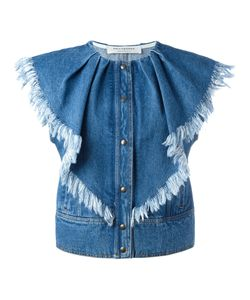 Philosophy di Lorenzo Serafini   Press Buttons Denim Waistcoat Size 38