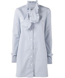 Ashley Williams | Stripe Ruffle Shirt Dress