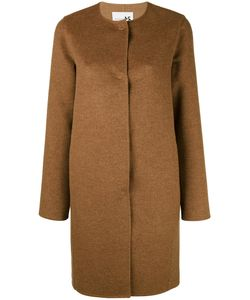 Manzoni 24 | Collarless Midi Buttoned Coat Women