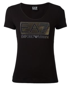 EA7 Emporio Armani | Embellished Logo T-Shirt Small