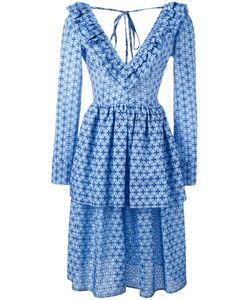 Daizy Shely | Pleated Trim Printed Dress 40