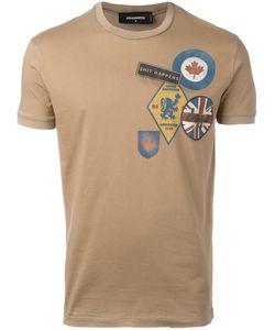 DSquared² | Logo Patch Print T-Shirt Medium Cotton