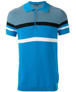 Diesel   Striped Polo Shirt Size Small