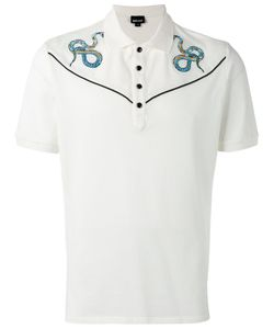 Just Cavalli | Snake Embroidered Polo Top Size Small