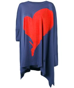 Vivienne Westwood Red Label   Heart Print Asymmetric T-Shirt