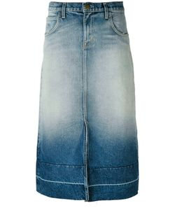 Current/Elliott | Faded Denim Midi Skirt
