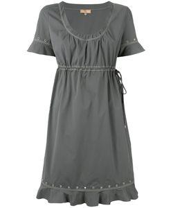 Fay   Drawstring Eyelet Dress L