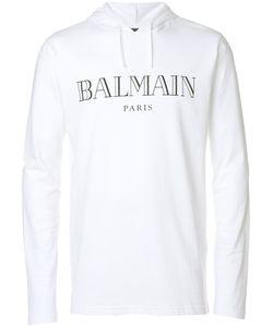 Balmain   Logo Printed Hoodie M