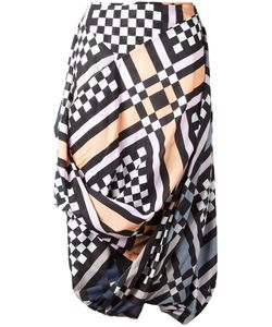 Vivienne Westwood Anglomania | Multi-Print Draped Skirt Size 42