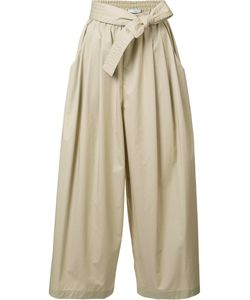 Tome | Cropped Drawstring Flared Trousers Large