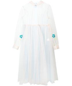 Natasha Zinko   Embroidered Bi-Colour Tulle Empire Gown Size
