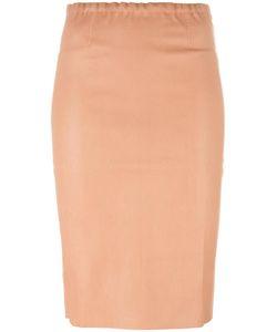 Stouls | Gilda Pencil Skirt Small Cotton/Lamb Skin/Spandex/Elastane/Lyocell